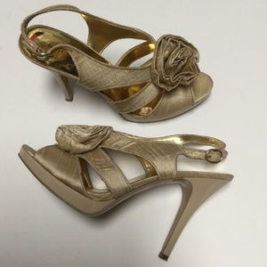 Nine West Dressy Heels Gold
